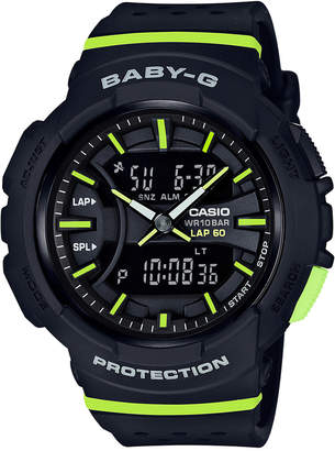 G-Shock Women's Analog-Digital Baby-G Black & Lime Green Resin Strap Watch 43mm $99 thestylecure.com