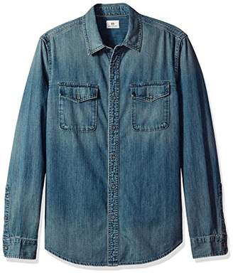 AG Adriano Goldschmied Men's Benning Denim Long Sleeve Shirt