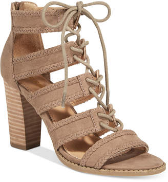 Report Roana Lace-Up Block-Heel Sandals $65 thestylecure.com