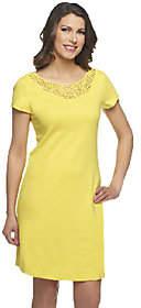 Liz Claiborne New York Regular Knit Dress withLace Detail