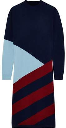 Chinti and Parker Intarsia Wool And Cashmere-blend Dress