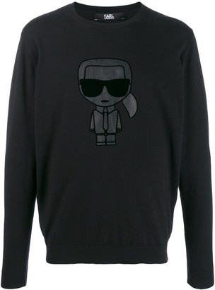 Karl Lagerfeld Paris Ikonik chest patch jumper
