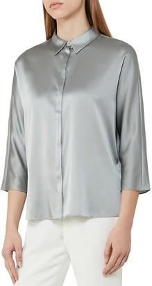 REISS Larue Silk Blouse $285 thestylecure.com