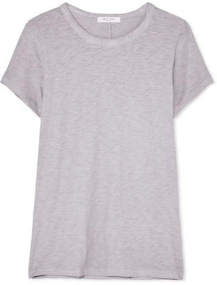 Rag & Bone The Tee Slub Pima Cotton-jersey T-shirt - Light gray