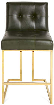 Jonathan Adler Goldfinger Counter Stool, Olive