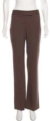 Valentino Wool-Blend Mid-Rise Pants