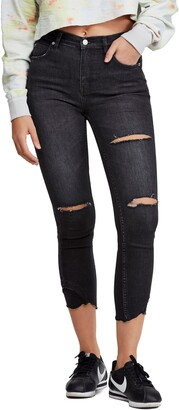 Free People Sunny Ripped Skinny Crop Jeans