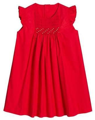 Luli & Me Ruffle-Sleeve Smocked Dress, Size 2-4T