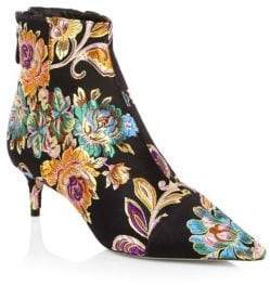 Alexandre Birman Floral Embroidery Bootie