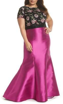 Mac Duggal Embroidered Mermaid Gown