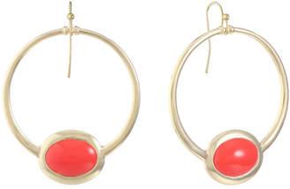 Liz Claiborne Orange 53mm Oval Hoop Earrings
