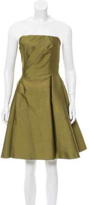 Alberta Ferretti Flared Strapless Dress w/ Tags
