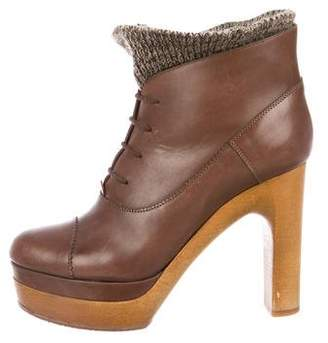 Chloé Leather Platform Booties