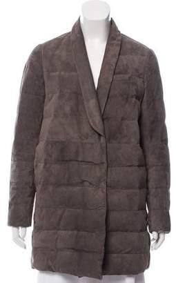 Brunello Cucinelli Suede Puffer Jacket