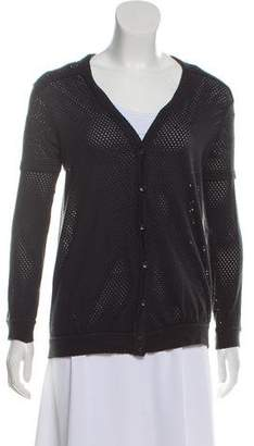 Marc by Marc Jacobs Perforated Button-Up Cardigan