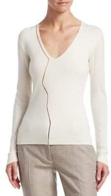Akris Marble V-Neck Sweater