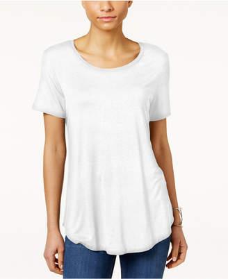 JM Collection Petite Shirttail-Hem Top