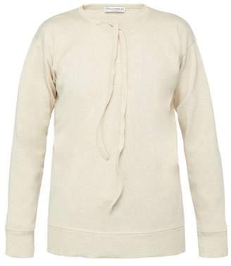 J.W.Anderson Tie Front Cotton Top - Mens - Beige