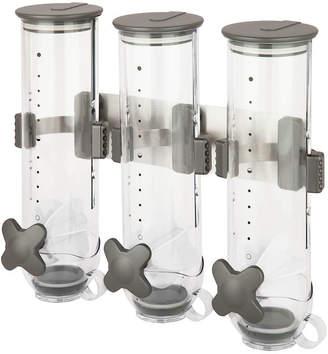 Zevro SmartSpace Edition Wall-Mounted Triple Food Dispenser