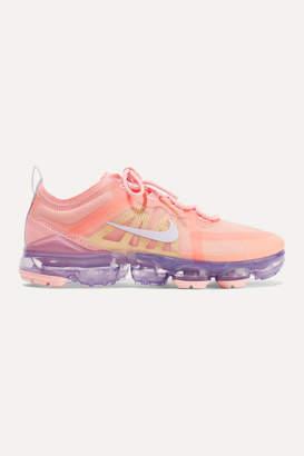 Nike Air Vapormax 2019 Mesh And Pvc Sneakers - Coral