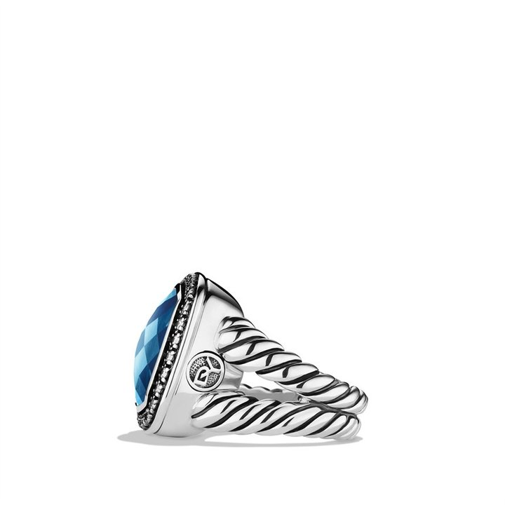 David Yurman Albion Ring with Moon Quartz and Diamonds