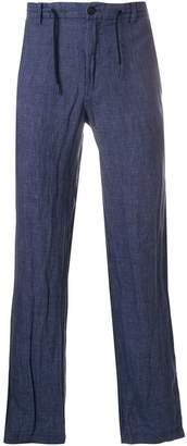 Emporio Armani drawstring-waist straight-leg trousers