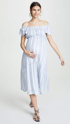 Ingrid & Isabel Flutter Sleeve Tiered Dress
