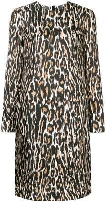 Calvin Klein leopard print midi dress