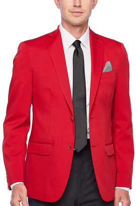 Izod Scarlet Red Mens Classic Fit Sport Coat