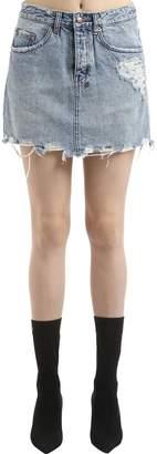 Ksubi Moss Super Freak Denim Mini Skirt