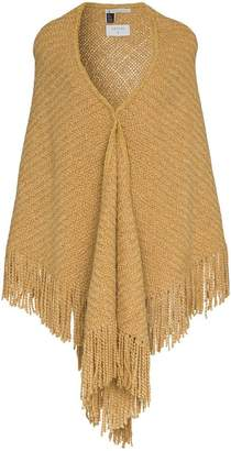 Aessai camel merino and linen shawl scarf