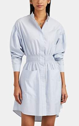 Cédric Charlier Women's Striped Cotton End-On-End Shirtdress - Blue Pat.
