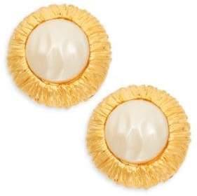 Kenneth Jay Lane Goldtone Faux Pearl Earrings