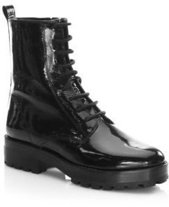 Michael Kors Collection Lace-Up Leather Boots