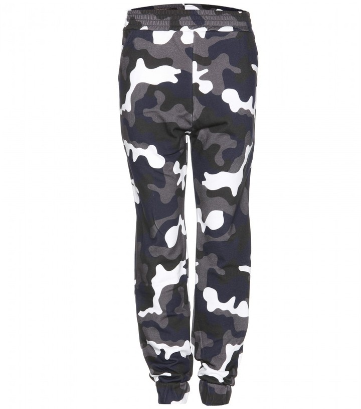 Christopher Kane Camouflage printed cotton track pants