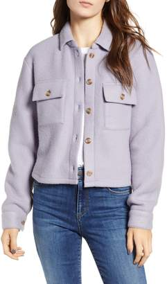 Love, Fire Textured Utility Jacket