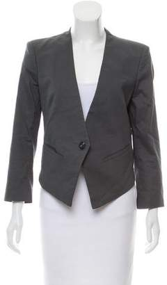 Helmut Lang High-Low Cropped Blazer