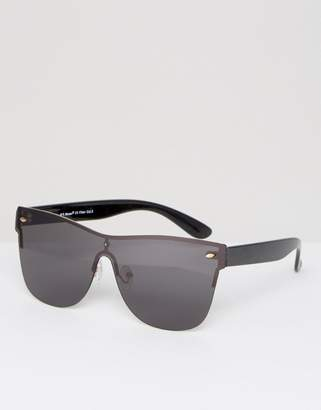 AJ Morgan Flat Top Visor Sunglasses in Black $19 thestylecure.com