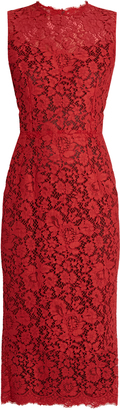 DOLCE & GABBANA Sleeveless cordonetto-lace dress $2,895 thestylecure.com
