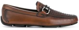 Salvatore Ferragamo Gancio woven loafers