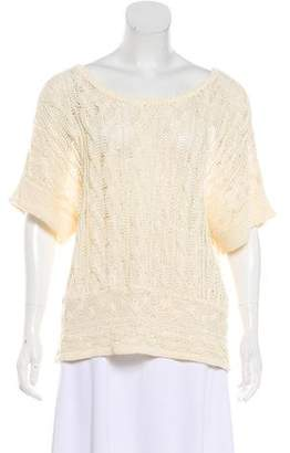 Rag & Bone Short Sleeve Cable Knit Top