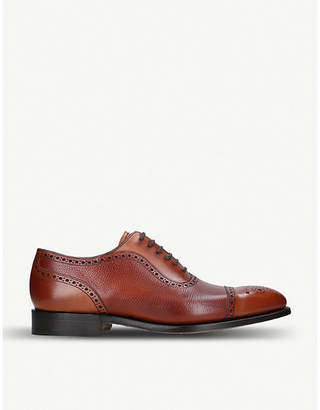 Barker Warrington brogue-style leather oxford shoes