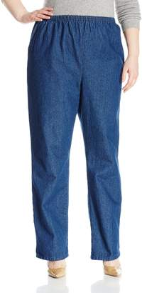 Chic Classic Collection Women's Plus Size Stretch Elastic Waist Pull-on Pant