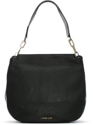 Michael Kors Fulton Black Pebbled Leather Hobo Bag