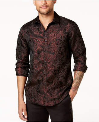 INC International Concepts I.n.c. Men's Paisley Jacquard Shirt, Created for Macy's