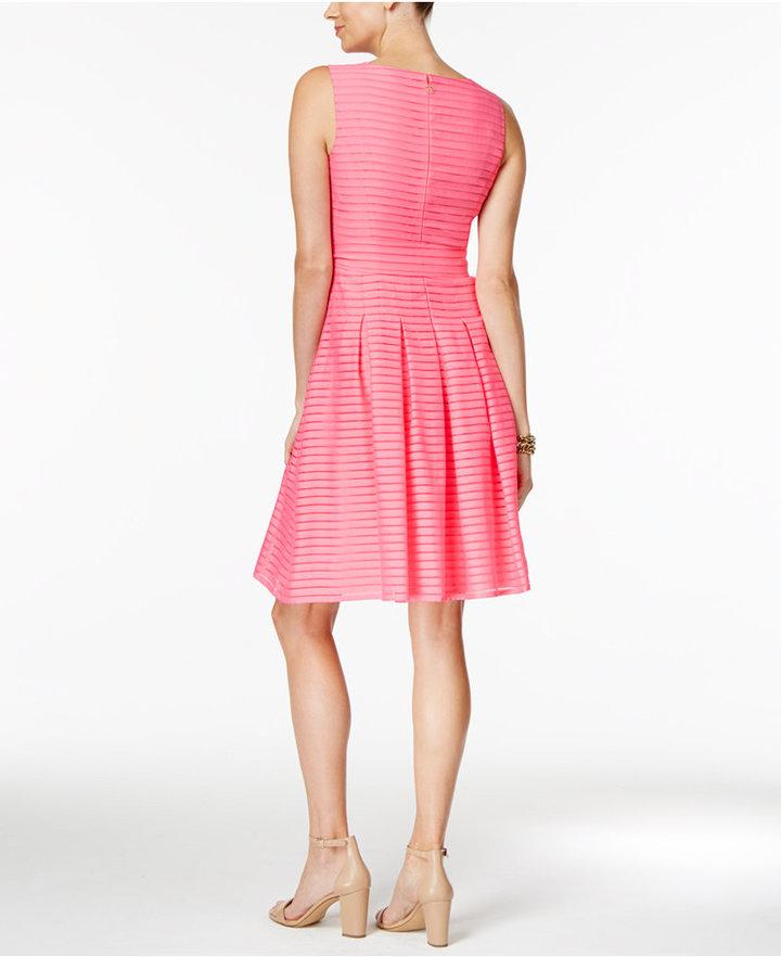Tommy Hilfiger Illusion-Striped Fit & Flare Dress 7