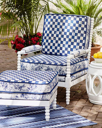 Mackenzie Childs MacKenzie-Childs Indigo Villa Outdoor Chair