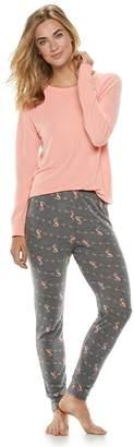 Sonoma Goods For Life Petite SONOMA Goods for Life 2-piece Raglan Tee & Pants Pajama Set