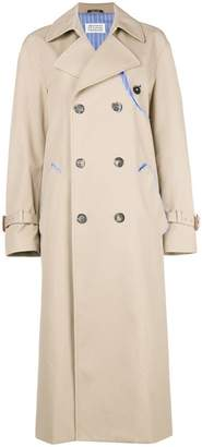 Maison Margiela contrast-lining trench coat