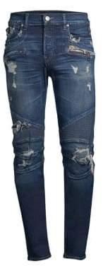Hudson Jeans Blinder Biker Distressed Skinny Jeans